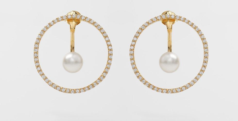 Modern Pearl Earring 640E42