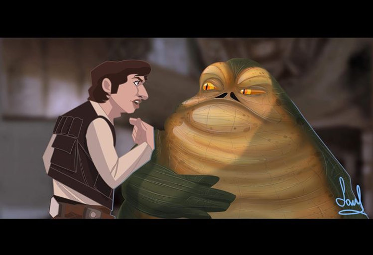 """Look Jabba, even I get boarded sometime"