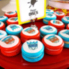 Transformer macarons custom designed for our Transformers 4th birthday party candy buffet and dessert table, dessert table Sydney, kids birthday party ideas