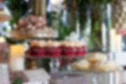 Vintage rustic wedding dessert table cupcakes