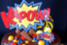 Superhero theme dessert table for a 5th birthday party, dessert table sydney