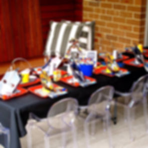 Kids table styling for our Transformers 4th birthday party candy buffet and dessert table, dessert table Sydney, kids birthday party ideas, event styling
