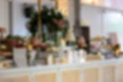 Vintage rustic wedding dessert table