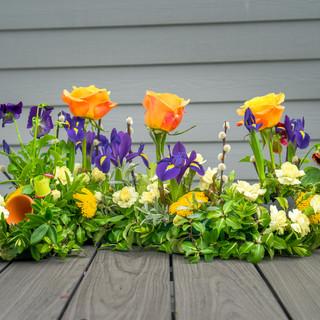 Garden s shape with flower pot