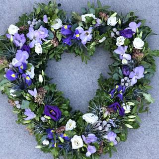 Open purple heart