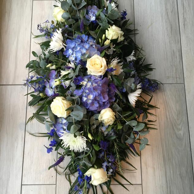 Hydrangea coffin spray