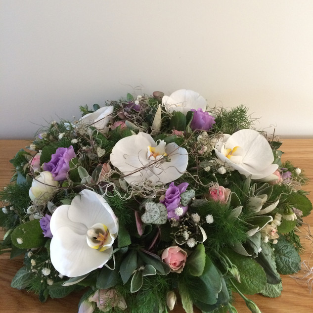 Orchid wreath