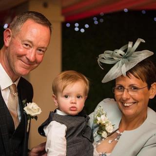 Bride's parents corsages