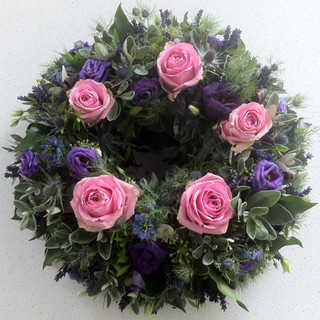 Pinks and purples wreath