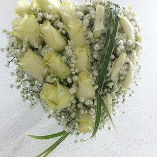 Bridal heart with roses