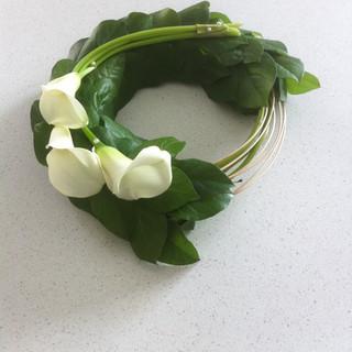 Simple calla lily wreath