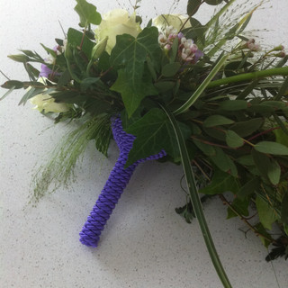 Bridal bouquet handle