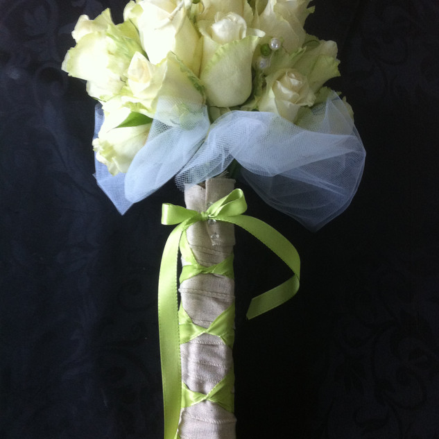 Bridal roses hand-tied