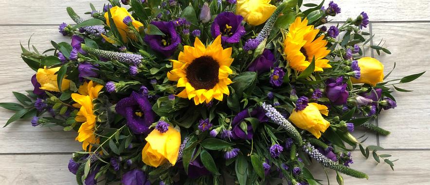 Funeral double ended sunflower.JPG