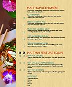 Mai Thai Omaha Lunch Menu