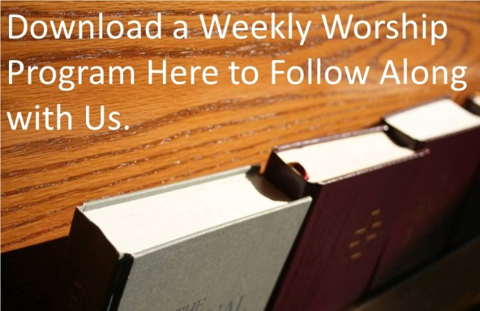 Download a weekly worship program