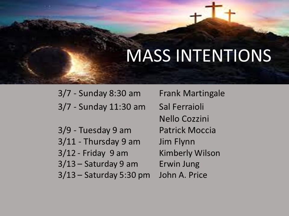 mass intention 3.13
