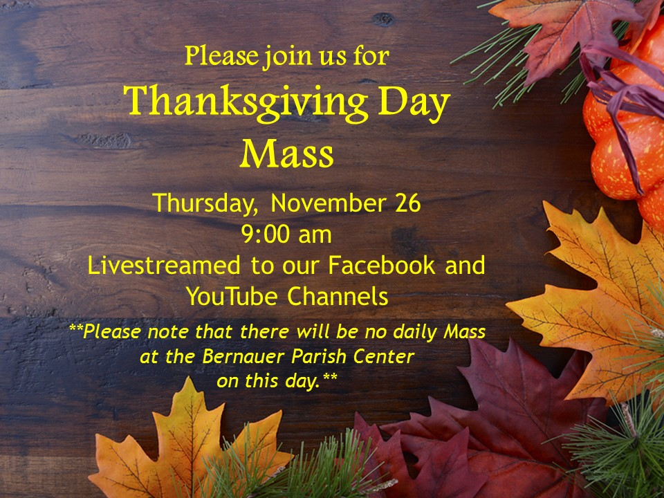 Thanksgiving Day Mass Ad