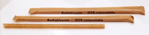Sugar Cane Straws 20cm x 8mm (3,600 per box)
