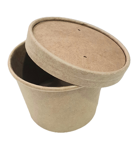 Kraft CPLA 740ml Soup Bowl /Lid (Box of 500)