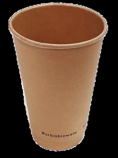 16oz Kraft Coffee Cup (Box 0f 500)
