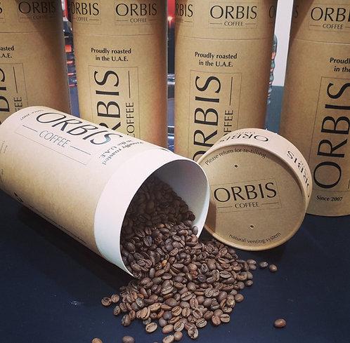 Gulf Blend Beans in compostable kraft tube