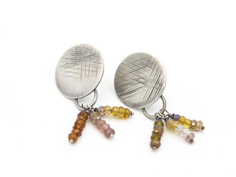 Sterling & Tourmaline Earrings