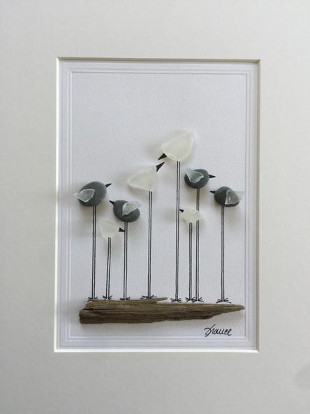 France Lessard_Birds1_Seaglass_11x14_150