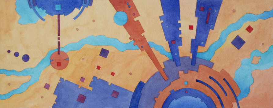 Aerial Abstract 3 WC 7x17