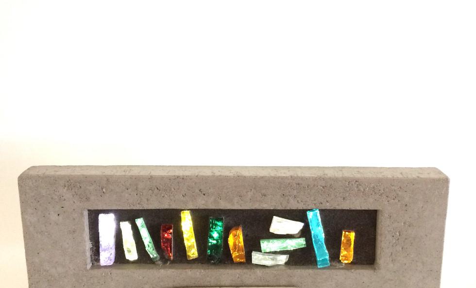 oeuvres de dalle de verre & béton (H) 31/2 po.x (L) 11 po.