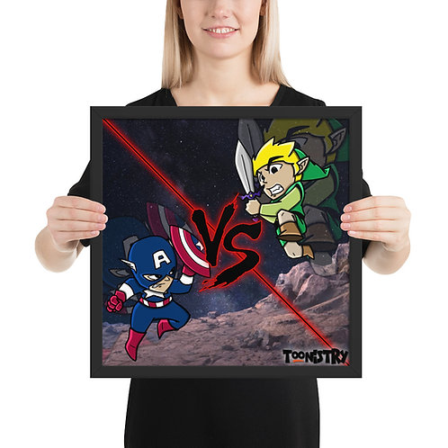 Captain America VS Link Framed