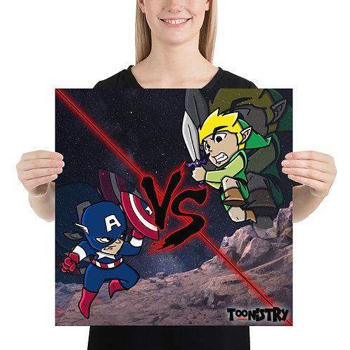 Captain America VS Link Poster