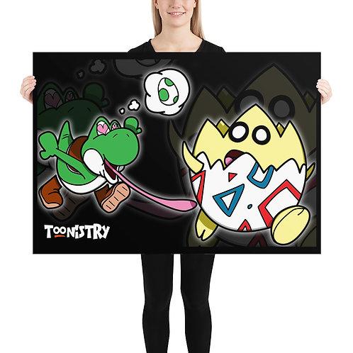 Yoshi Meets Togepi Poster