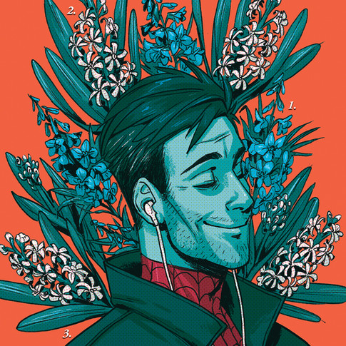 Peter B Parker Flower Card