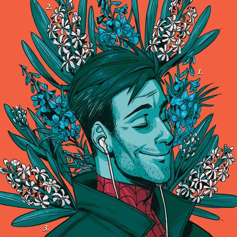 Peter B Parker Flower Card