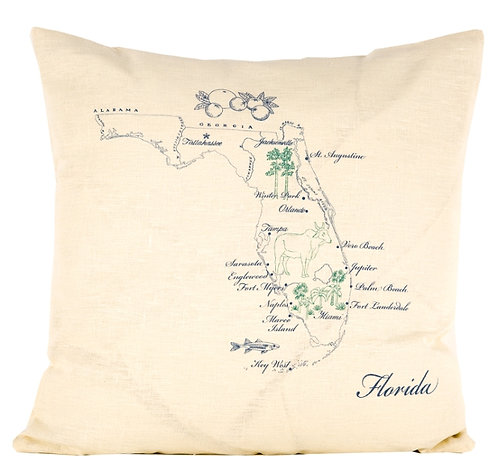 Linen Pillow Florida