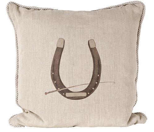 Linen Horsehsoe Pillow