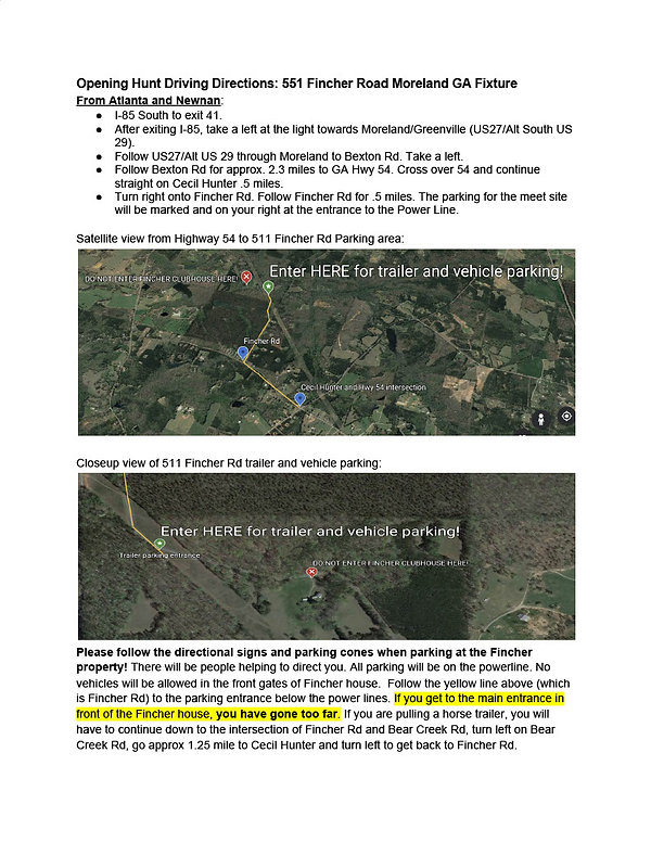 Map to Opening Hunt 2020 Meet site at Fi