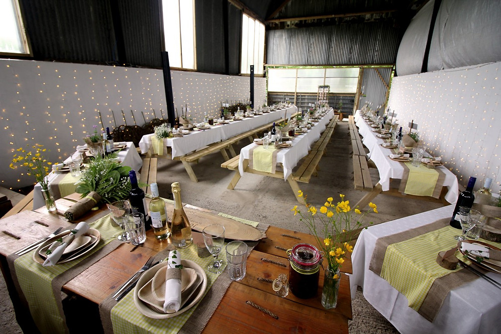 The Banquet Barn at Top of the Woods - create your own perfect celebration space