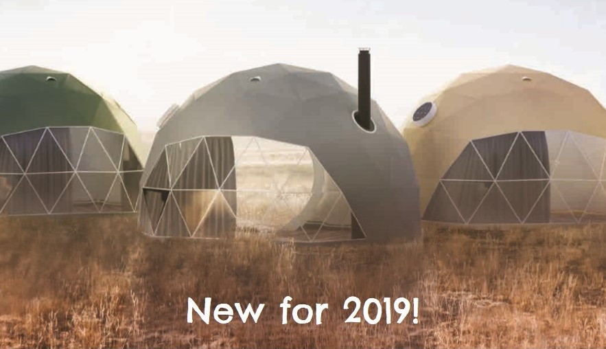 Brand new glamping meadow domes, set in a stunning meadow overlooking Pembrokeshire National Park. Keep an eye out for new photos!