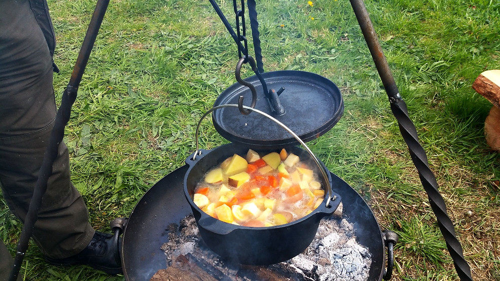 Campfire cooking and Dutch ovens
