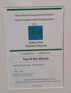 Top of the Woods Camping & Glamping Holiday – Pembrokeshire – Wales - UK - Eco Green Key Award 1
