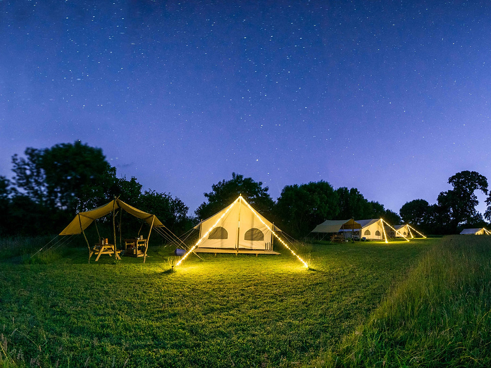 Glamping Pioneer Camps at Top of the Woods