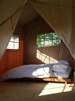 Top of the Woods Camping & Glamping Holiday – Pembrokeshire – Wales - UK - Safari Lodge Bed