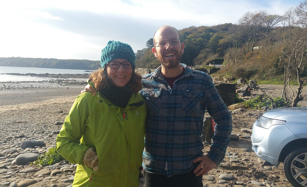 Jon & Soo from Top of the Woods on a coastal foraging experience