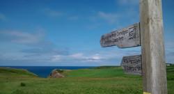 Coast path signpost