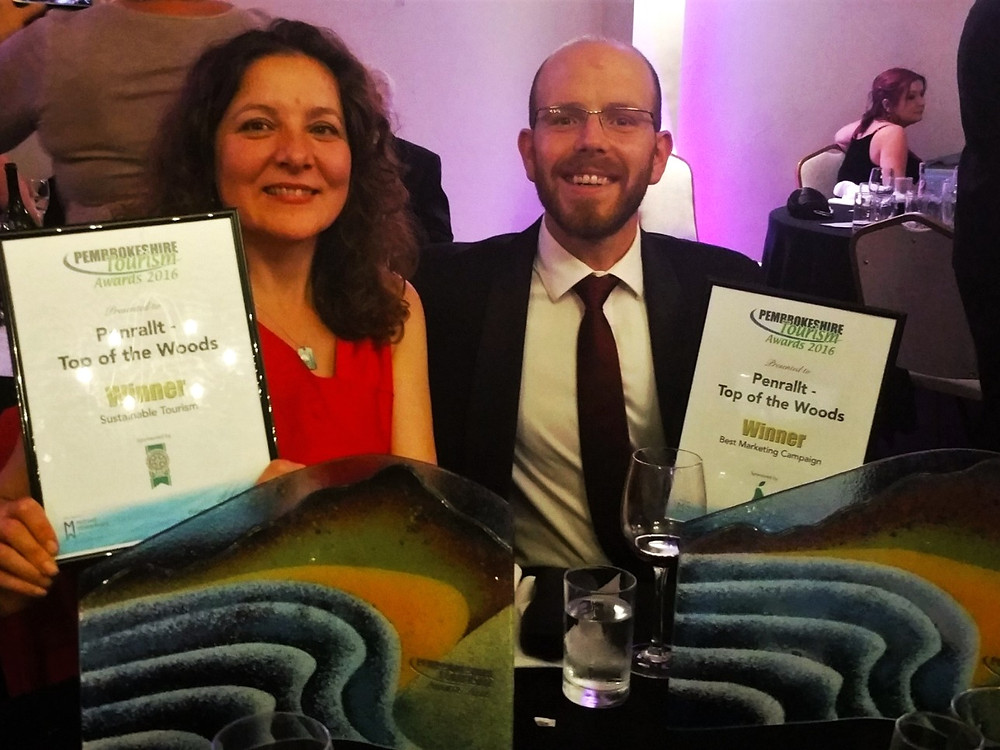Pembrokeshire Tourism Awards - Winners Sustainable Tourism and Best Marketing