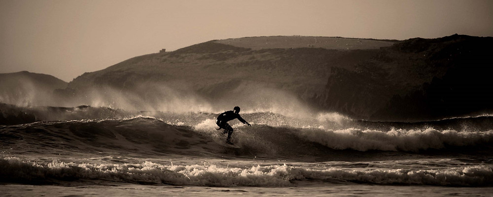 Freshwater West surfing beach