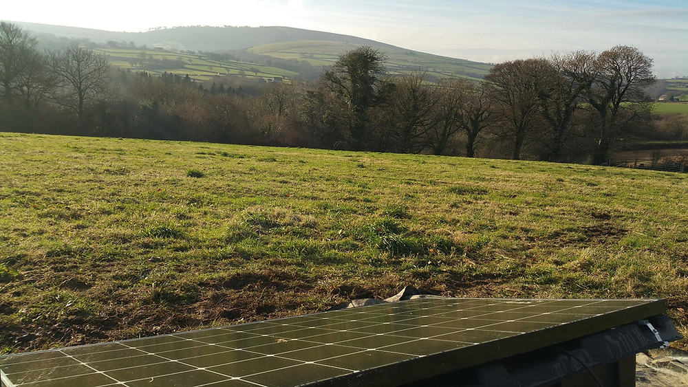 Preseli hill and solar energy at Top of the Woods