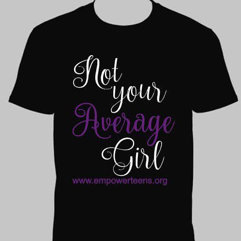 "Black ""Not Your Average Girl"" Tee"